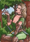 Elf Metal Sketch Card - Spellcasters II by ElainePerna