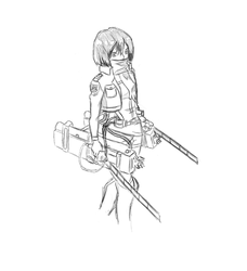 Mikasa From Attack On Titan by FickleArtist