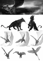 Griffins by audelade