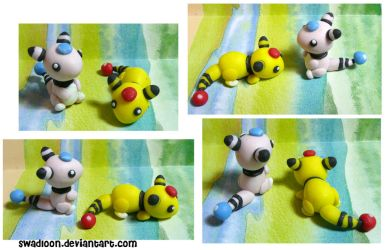 Chibi PM CM: Ampharos by Swadloon