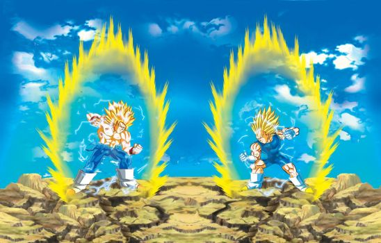 Goku Vs Vegeta3 Super Saiyan 2 By Jonathan Hendri JonathanHendricks On DeviantArt