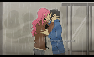 Kiss in the rain by marilie7777