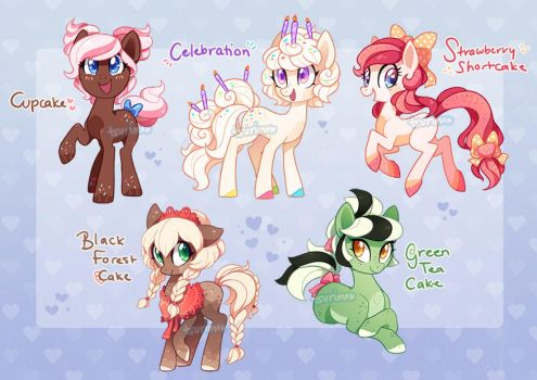 MLP Auction - Cake Ponies 1 (CLOSED) by tsurime