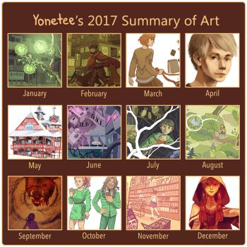 2017 Summary of art by Yonetee