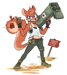 Explodey Squirrel by Beezii11