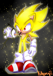 .:Speedpaint:.Super Sonic! by kittyzoey