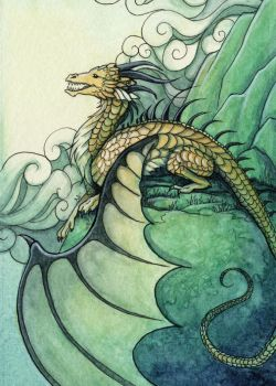 Mountain Dragon by Evanira