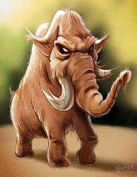 Woolly Mammoth by Noumier