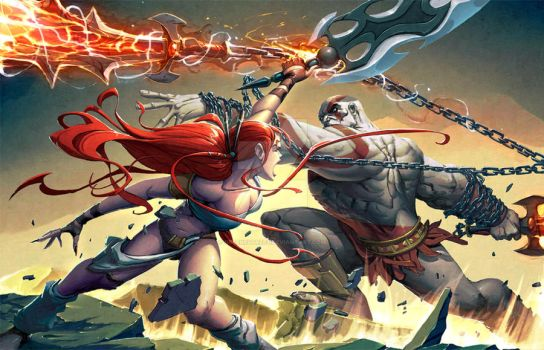 Kratos VS Nariko by greenestreet