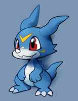 A Veemon by HappyCrumble