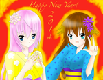 Happy New Year! 2014 by OtakuNekoSan