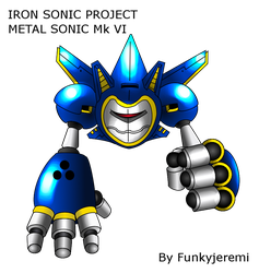 Metal Sonic Mark VI : The Iron Sonic - shadded by funkyjeremi