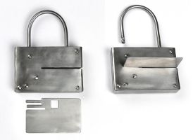 Pad Lock with a Steel Card by Rajala