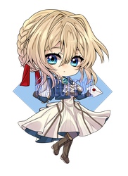 Violet evergarden Chibi by MaiuLive