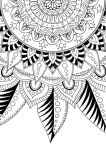 Leaves and stripes / Partial Mandala Coloring Page by ademaris