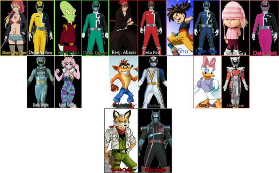 DekaRanger Portrayed by Any Characters by Tabacookie