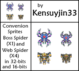 Conversion Sprites - Boss Spider and Web Spider by kensuyjin33