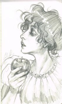 Drawing Challenge Day 3: Classic Snow White by Carliihde