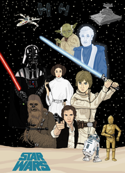 Star Wars - Original Trilogy Poster by Juggernaut-Art