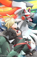 Gladion and Silvally by Kanokawa