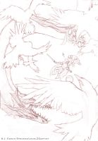Beowulf and the Dragon DRAWING by Level20Artist