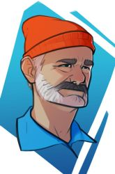 Bill Murray, The Life Aquatic by TheKrustacean