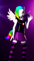 Anthro Rainbow whirlwind. by zOMG-a-DropBear