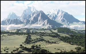 Mountainscape I by jbjdesigns