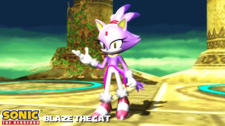 (MMD Model) Blaze the Cat Download by SAB64