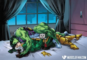 She-Hulk's Rogue Passions by muscle-fan-comics
