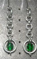 Chainmaille Earring 25 by Des804