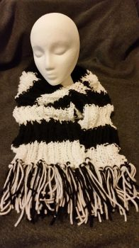 Ribbed Striped Scarf w/Tassels [Sold] by KCKnits