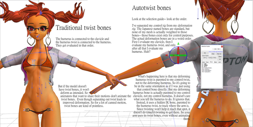 Revised autotwist bones for MMD by vasilnatalie
