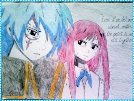 Erza x Jellal - Precious moment by LeanneArts
