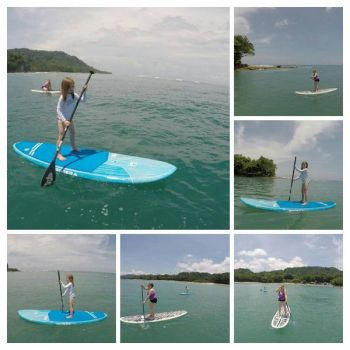 Daughter and Granddaughter SUP in Costa Rica by lestnill