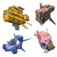Hover Car Sketches by Phill-Art