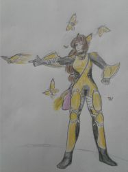 (Overwatch oc) Neanine Rochesther by Whoarethetwo