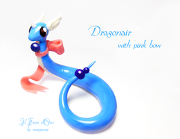 Dragonair with pink bow by rosepeonie