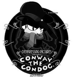 Cartoon Star From Bad Times - Conway The Con Dog by FierceTheBandit