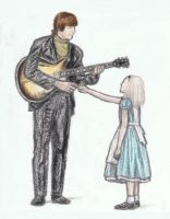 John Lennon shaking hands with Alice by gagambo