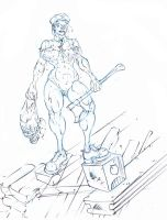 axe cop ... is a woman ! :D by Selkirk