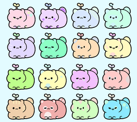 Cute Pastel Catbeans (16/16 OPEN) by milkycult