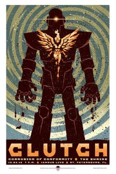 Clutch gigposters by JasonGoad