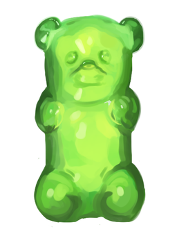 Green Gummy Masterrace by perplexingPariah