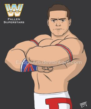 WWE Fallen Superstars: The British Bulldog by EadgeArt