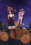 Halloween Contest: Candy and Mizuki by Dai-kunn