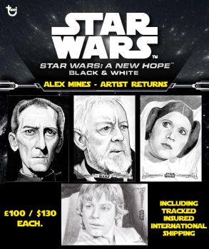 Topps Star Wars: A New Hope Black And White Artist by amines1974