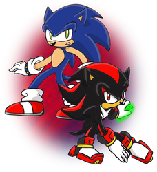 sonic and shadow by guchi-22