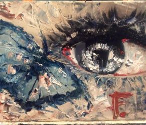 Eye and butterfly by AaronFrick