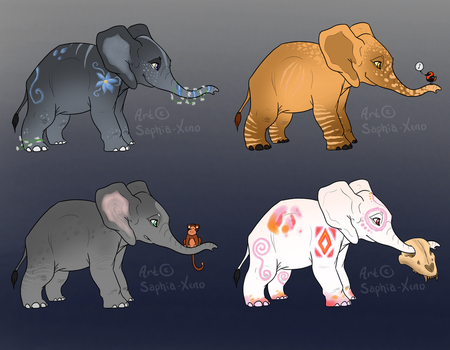 Elephant calves *AUCTION* (0/4) by Saphia-Xeno